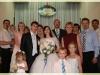 Мы и сыновья с внуками и моя сестра с мужем на свадьбе дочери